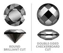 Round Brilliant vs. Double-Sided Checkerboard Cut