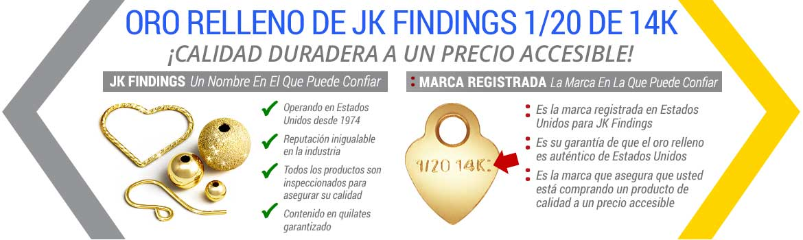 Advantages of JK Findings 1/20 14K Gold Filled
