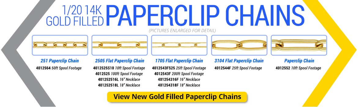 1/20 14K Gold Filled Paperclip Chains